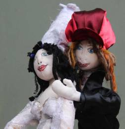Bride & Groom doll, detail