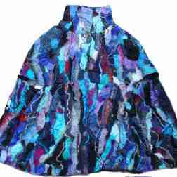 Cape, embroidered & embellished mixed fibres (reversible)