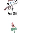Cat Bird Flower - Evie Miller