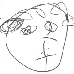 Evie, self portrait aged 2, by Evie Miller