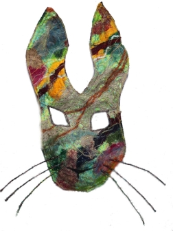 Hare Mask, mixed fibres