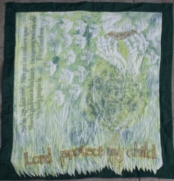 Lord Protect My Child quilt, 1m x 1m