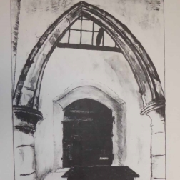 St Bridget's Church, Skenfrith; stone lithograph